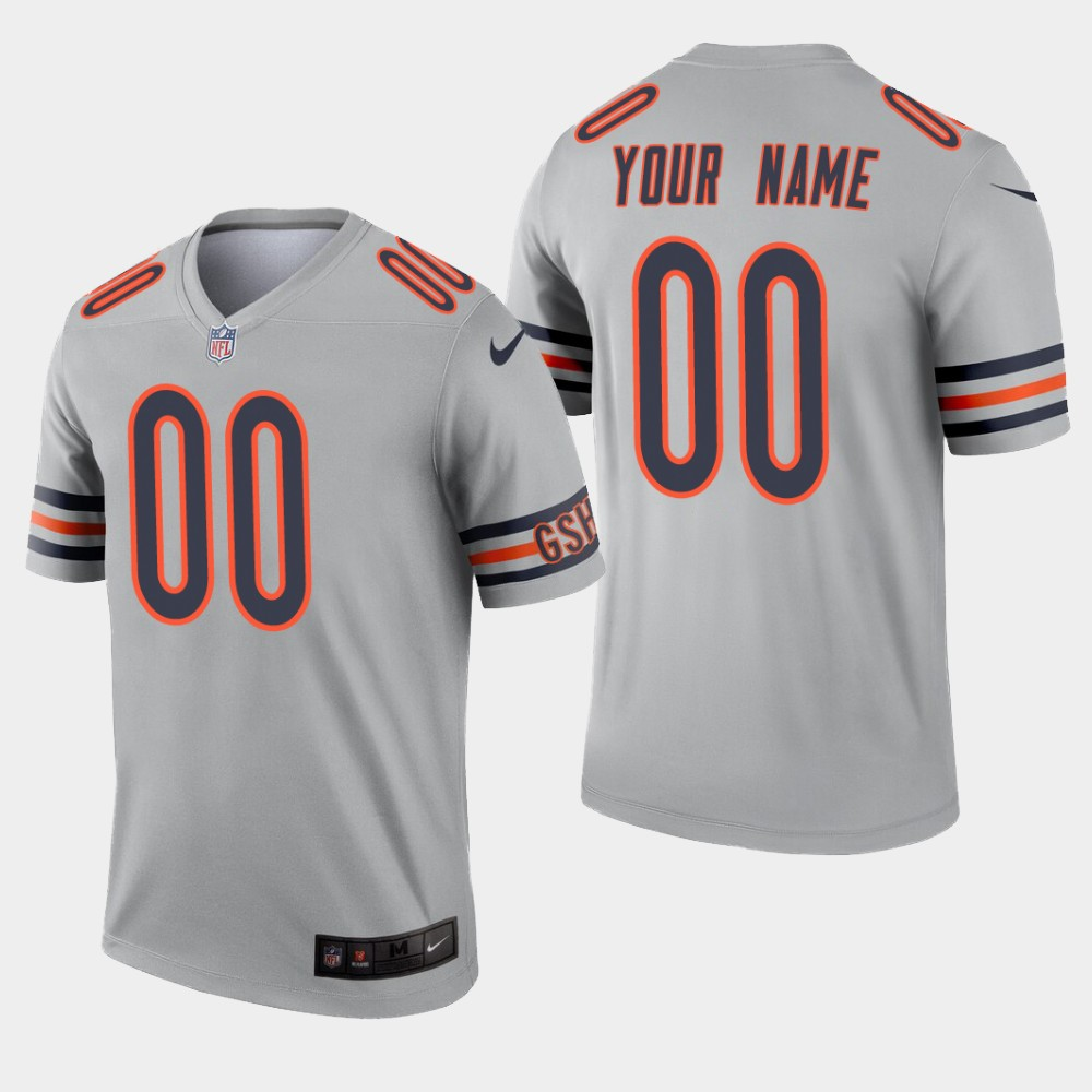Chicago Bears #00 Custom Inverted Legend Silver Jersey