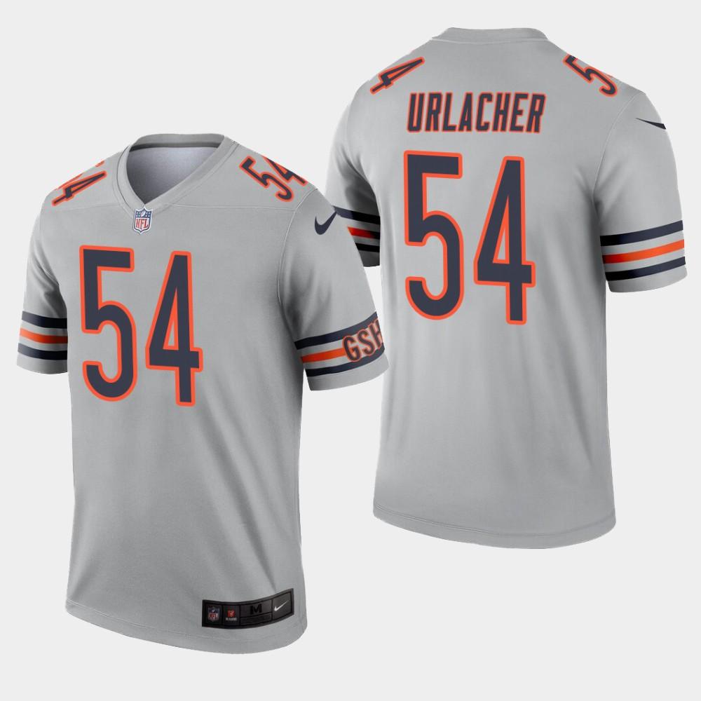 Chicago Bears #54 Brian Urlacher Inverted Legend Silver Jersey