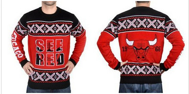 Chicago Bulls Men's NBA Ugly Sweater-1