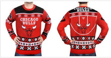 Chicago Bulls Men's NBA Ugly Sweater