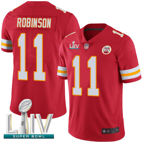 Chiefs #11 Demarcus Robinson Red Team Color Super Bowl LIV Bound Men's Stitched Football Vapor Untouchable Limited Jersey