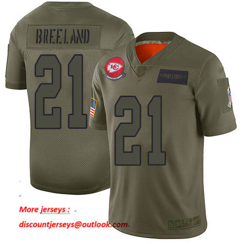 Chiefs #21 Bashaud Breeland Camo Men's Stitched Football Limited 2019 Salute To Service Jersey