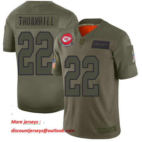 Chiefs #22 Juan Thornhill Camo Men's Stitched Football Limited 2019 Salute To Service Jersey