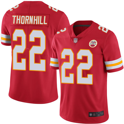 Chiefs #22 Juan Thornhill Red Team Color Men's Stitched Football Vapor Untouchable Limited Jersey
