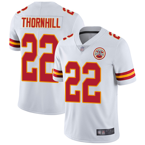 Chiefs #22 Juan Thornhill White Men's Stitched Football Vapor Untouchable Limited Jersey