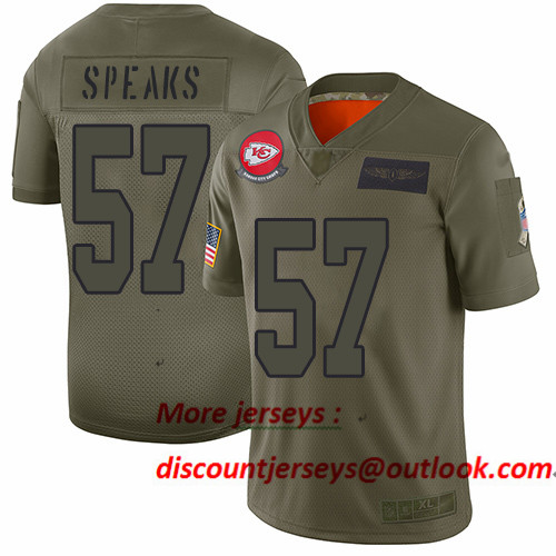 Chiefs #57 Breeland Speaks Camo Men's Stitched Football Limited 2019 Salute To Service Jersey