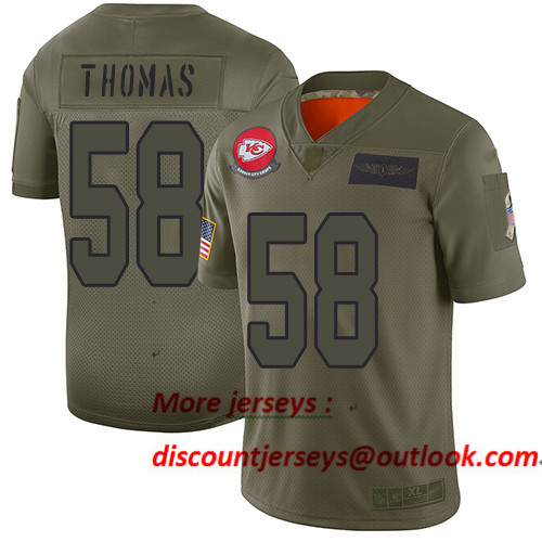 Chiefs #58 Derrick Thomas Camo Men's Stitched Football Limited 2019 Salute To Service Jersey