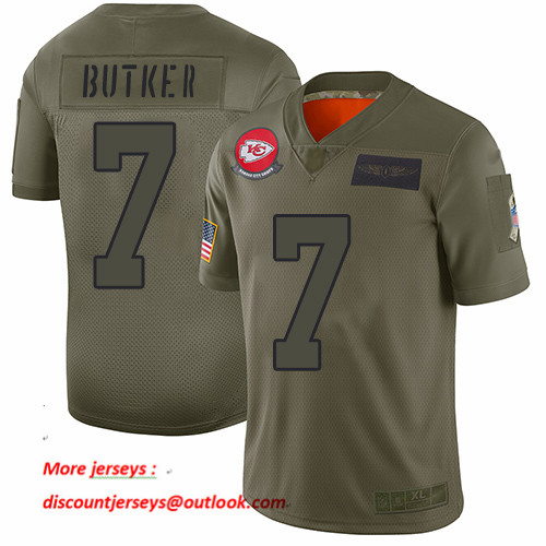 Chiefs #7 Harrison Butker Camo Men's Stitched Football Limited 2019 Salute To Service Jersey