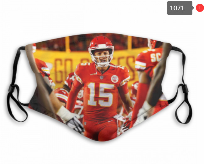 Chiefs Patrick Mahomes Mask with Filter Double Protection PM2.5 (2)