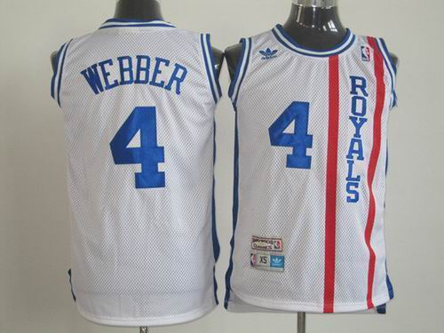 Cincinnati Royals 4 Chris Webber Swingman White jerseys