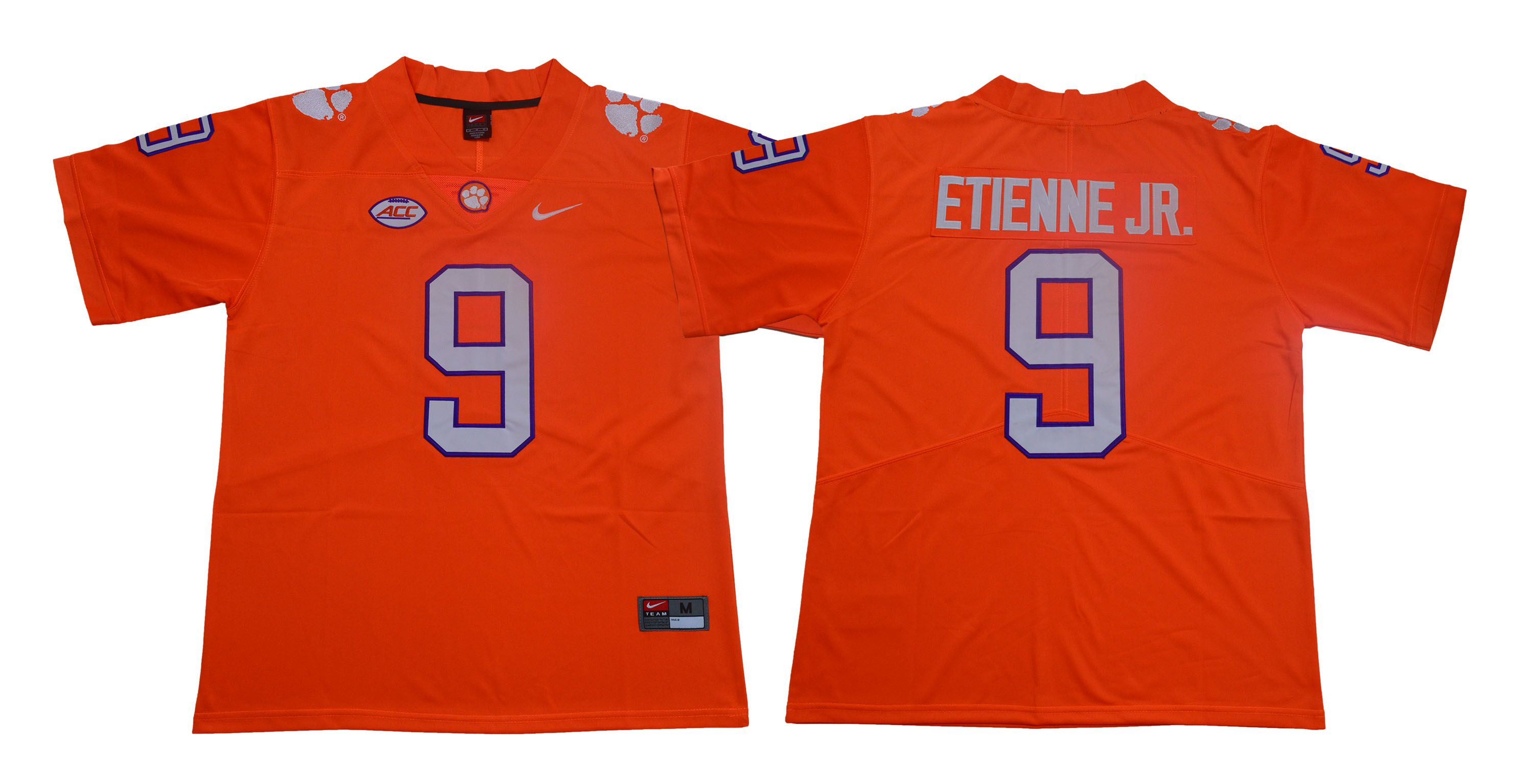 Clemson Tigers 9 Travis Etienne Jr. Orange Nike College Football Jersey