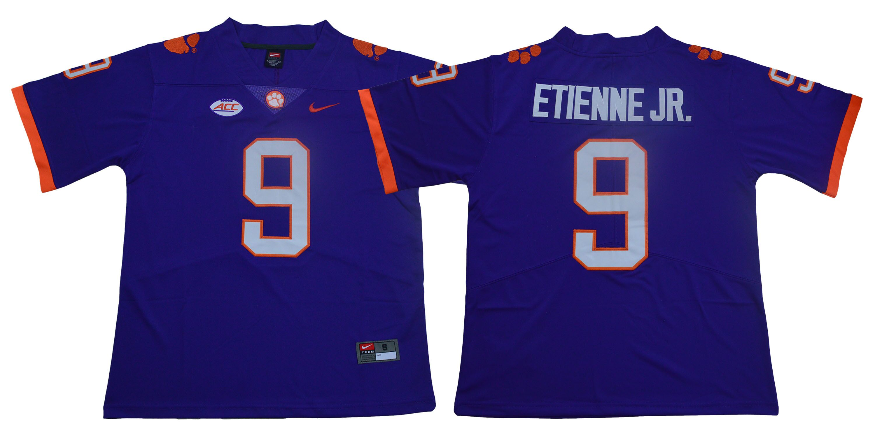 Clemson Tigers 9 Travis Etienne Jr. Purple Nike College Football Jersey