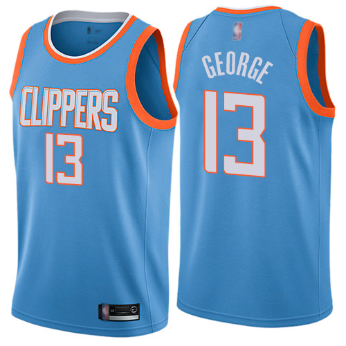 Clippers #13 Paul George Blue Basketball Swingman City Edition Jersey