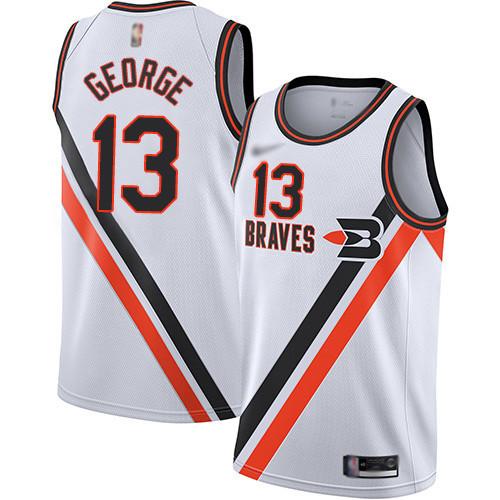 Clippers #13 Paul George White Basketball Swingman Hardwood Classics Jersey