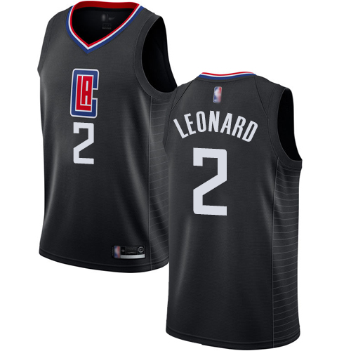 Clippers #2 Kawhi Leonard Black Basketball Swingman Statement Edition Jersey