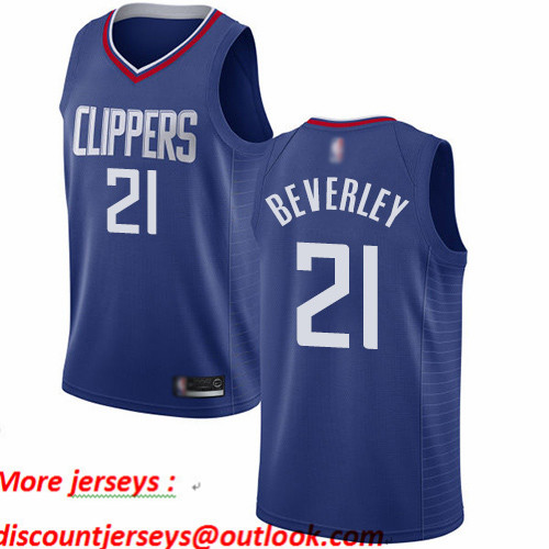 Clippers #21 Patrick Beverley Blue Basketball Swingman Icon Edition Jersey
