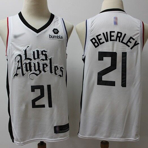 Clippers #21 Patrick Beverley White Basketball Swingman City Edition 2019 20 Jersey