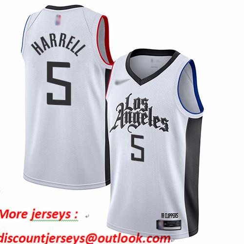 Clippers #5 Montrezl Harrell White Basketball Swingman City Edition 2019 20 Jersey