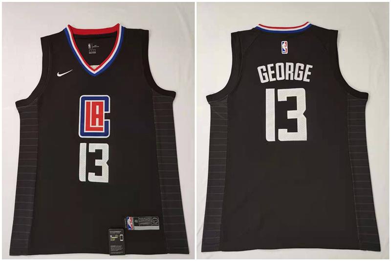 Clippers 13 Paul George Black Nike Swingman Jersey