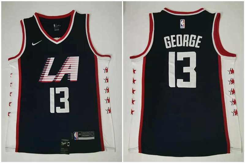 Clippers 13 Paul George Navy City Edition Nike Swingman Jersey