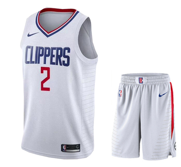 Clippers 2 Kawhi Leonard White City Edition Nike Swingman Jersey(With Shorts)