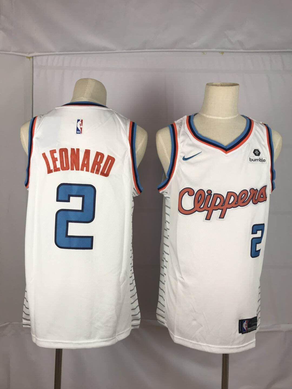 Clippers 2 Kawhi Leonard White Nike Throwback Swingman Jersey