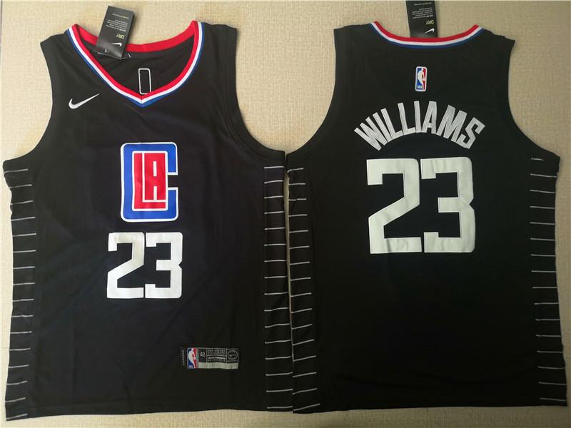 Clippers 23 Lou Williams Black Nike Swingman Jersey