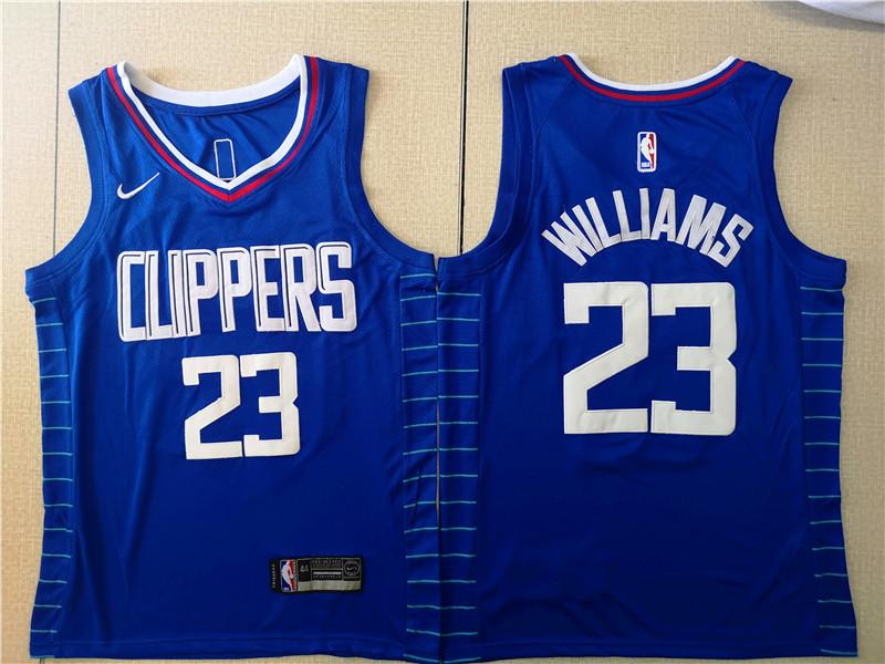 Clippers 23 Lou Williams Blue Nike Swingman Jersey