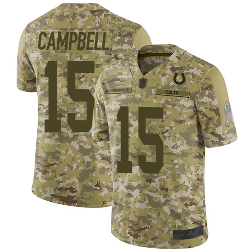 Colts #15 Parris Campbell Camo Men's Stitched Football Limited 2018 Salute To Service Jersey