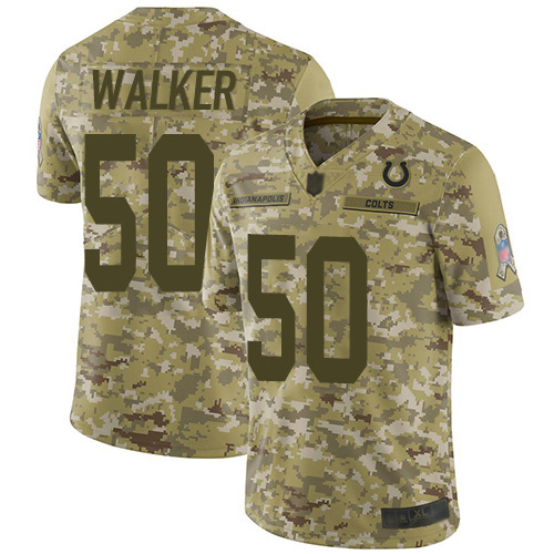 Colts #50 Anthony Walker Camo Men's Stitched Football Limited 2018 Salute To Service Jersey