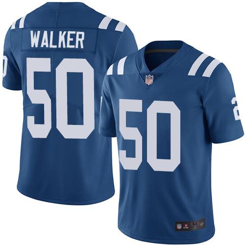 Colts #50 Anthony Walker Royal Blue Team Color Men's Stitched Football Vapor Untouchable Limited Jersey