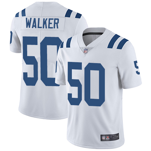 Colts #50 Anthony Walker White Men's Stitched Football Vapor Untouchable Limited Jersey