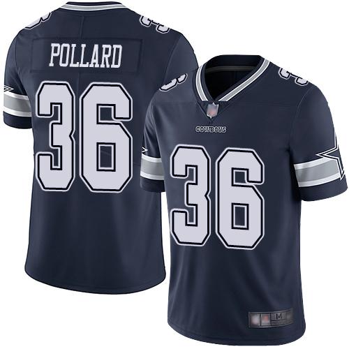 Cowboys #36 Tony Pollard Navy Blue Team Color Men's Stitched Football Vapor Untouchable Limited Jersey