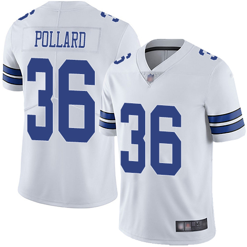Cowboys #36 Tony Pollard White Men's Stitched Football Vapor Untouchable Limited Jersey