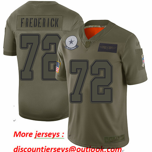 Cowboys #72 Travis Frederick Camo Youth Stitched Football Limited 2019 Salute to Service Jersey