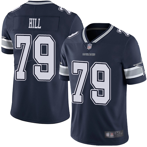 Cowboys #79 Trysten Hill Navy Blue Team Color Men's Stitched Football Vapor Untouchable Limited Jersey