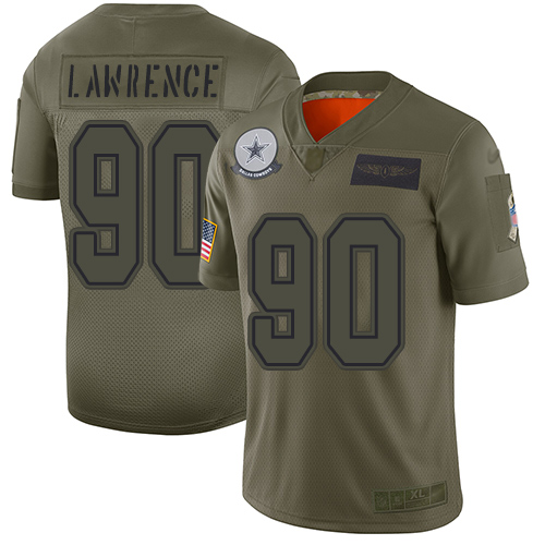 Cowboys #90 Demarcus Lawrence Camo Men's Stitched Football Limited 2019 Salute To Service Jersey