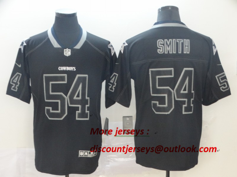 Cowboys 54 Jaylon Smith Black Shadow Legend Limited Jersey