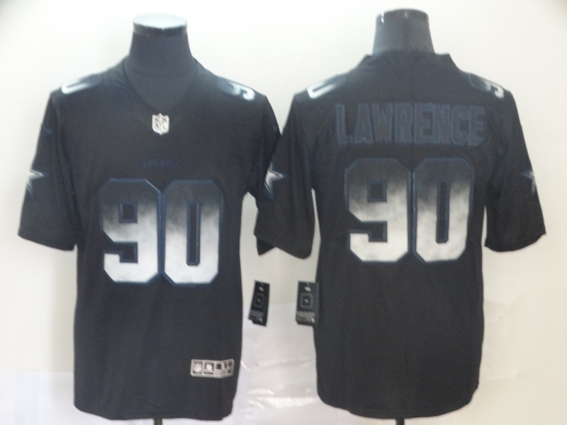 Cowboys 90 DeMarcus Lawrence Black Arch Smoke Vapor Untouchable Limited Jersey