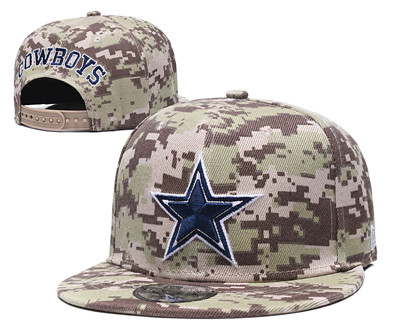 Cowboys Fresh Logo Camo Adjustable Hat GS
