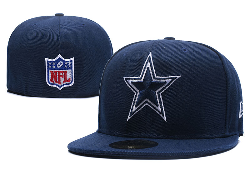 Cowboys Fresh Logo Navy Fitted Hat LX