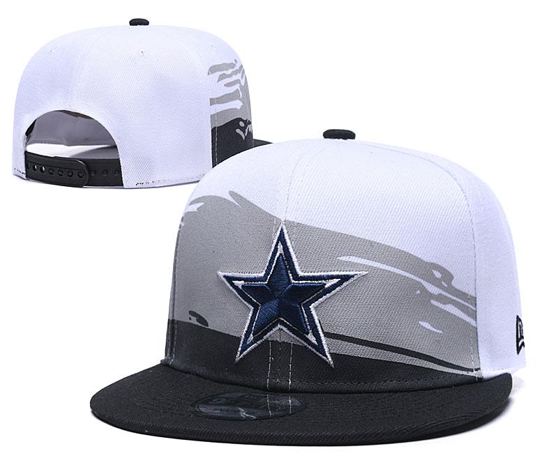 Cowboys Fresh Logo White Black Adjustable Hat GS