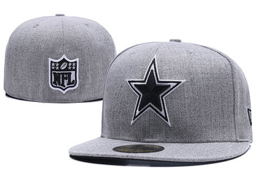 Cowboys Team Logo Gray Fitted Hat LX
