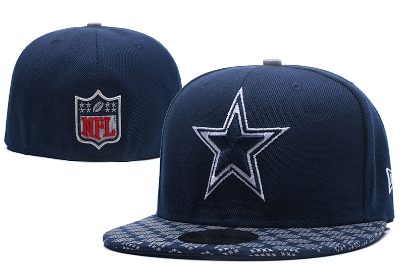 Cowboys Team Logo Navy Fitted Hat LX