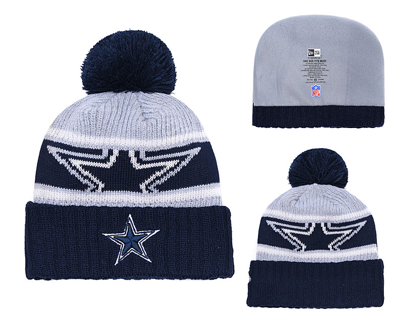 Cowboys Team Logo Navy Knit Hat YD