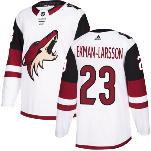 Coyotes #23 Oliver Ekman-Larsson White Road Authentic Stitched Hockey Jersey