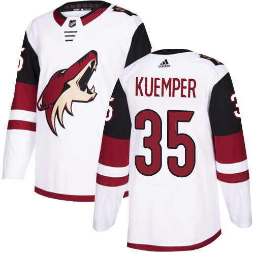 Coyotes #35 Darcy Kuemper White Road Authentic Stitched Hockey Jersey