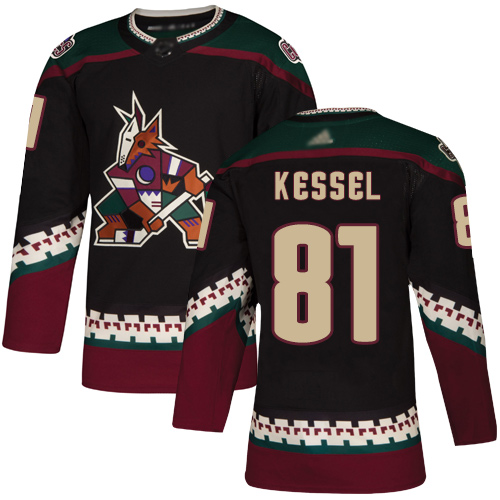 Coyotes #81 Phil Kessel Black Alternate Authentic Stitched Hockey Jersey