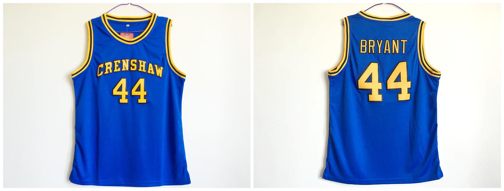 Crenshaw High School 44 Kobe Bryant Blue Basketball Jersey