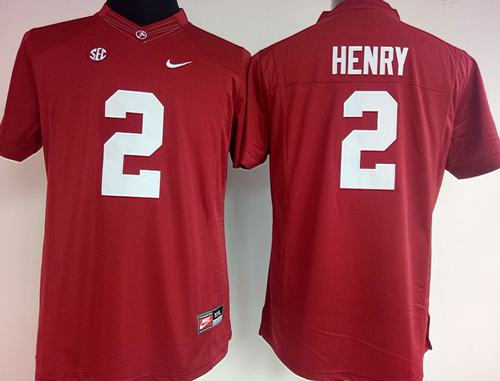 Crimson Tide #2 Derrick Henry Red Women's Stitched NCAA Jersey